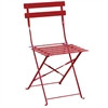 BOLERO - GH555 - Red Pavement Style Steel Folding Chairs (Pack of 2)