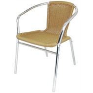 BOLERO - U422 - Aluminium and Natural Wicker Chair (Pack of 4)