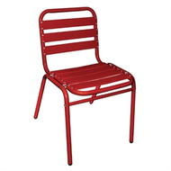 BOLERO - GK994 - Red Aluminium Bistro Side Chair (Pack of 4)