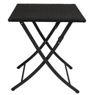 BOLERO - GL302 - PE Wicker Folding Square Table 600mm