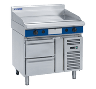 Blue Seal Evolution Series GP516-RB - 900mm Gas Griddle Refrigerated Base. Weekly Rental $ 125.00