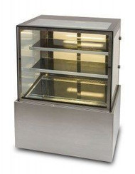 ANVIL AIRE - DSV0730 - SQUARE GLASS CAKE DISPLAY CABINET. Weekly Rental $35.00