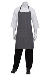 Brooklyn Chocolate/Blue Bib Apron