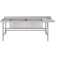 Vogue CM526 LH Dishwasher Inlet Table with double bowl sink. Week Rental $11.00