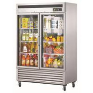 Austune - G2R-1250L - Two Door Upright Display Chiller S/S. Weekly Rental $47.00