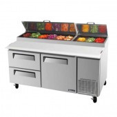 Turbo Air - CTPR-67SD-D2 - Pizza Prep Refrigerator. Weekly Rental $68.00