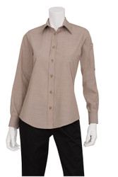 Ladies Chambray Ecru Shirt