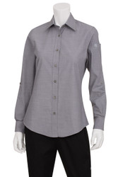 Ladies Chambray Grey Shirt