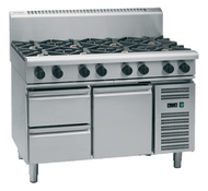 Waldorf 800 Series RN8800G-RB - 1200mm Gas Cooktop Refrigerated Base. Weekly Rental $175.00