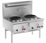 B & S - UFWWK-2 - TWO RING WATERLESS GAS WOK. Weekly Rental $49.00
