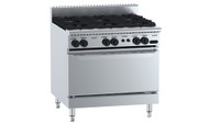 B & S - VBT-SB6 - GAS SIX BURNER WITH OVEN. Weekly Rental $49.00