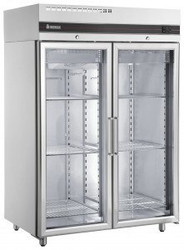Inomak - UFI1140G - Double Glass Door Fridge. Weekly Rental $44.00