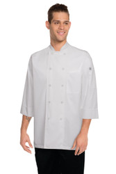White 3/4 Sleeve Chef Jacket