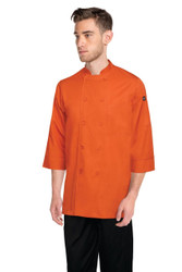 Orange 3/4 Sleeve Chef Jacket