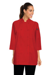 Red 3/4 Sleeve Chef Jacket