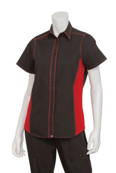 Ladies Black/Red Universal Shirt
