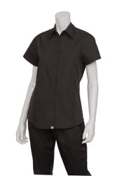 Ladies Black Cool Vent Shirt