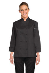 Marbella Womens Black Chef Jacket