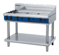 Blue Seal Evolution Series G518A-LS - 1200mm Gas Griddle - Leg Stand. Weekly Rental $55.00