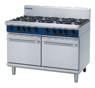 Blue Seal Evolution Series G528D - 1200mm Gas Range Double Static Oven. Weekly Rental $102.00