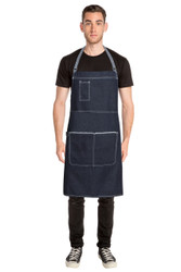 Bronx Cross Back Apron - Indigo Blue