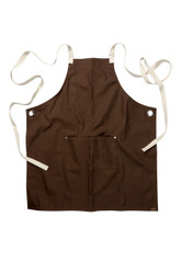 Byron Canvas Cross Back Apron- Brown