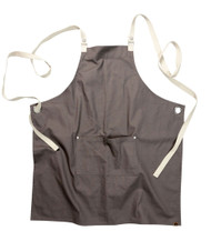 Byron Canvas Crossback apron - Grey