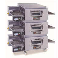 MORETTI FORNI SERIE T TRIPLE GAS - T75G/3 - Triple Deck Gas Conveyor Oven. Weekly Rental $614.00
