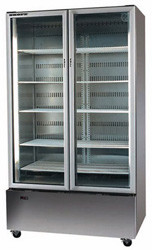 SKOPE B900SS 2 Door Stainless Steel Bottom Mount Display Refrigerator. Weekly Rental $58.00