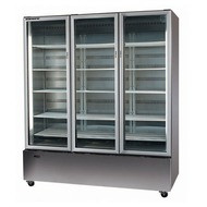 Skope B1350SS - White 3 Glass Bottom mount Door Upright Chiller. Weekly Rental $75.00