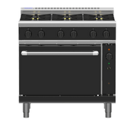 Waldorf Bold RNLB8610GC - 900mm Gas Range Convection Oven Low Back Version. Weekly Rental $113.00