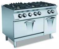 MARENO ANC7FE12G Gas 6 Burner Cooktop Electric Static Oven. Weekly Rental $85.00
