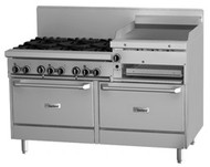 GARLAND GF60-6R24RR Restaurant Series Gas 6 Open Top Burners 600mm, Griddle, Salamander & 2 Standard Ovens . Weekly Rental $153.00
