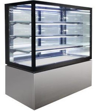 Anvil Aire - NDHV4740 - Square Glass 4 Tier Hot Display 1200mm – 480lt. Weekly Rental $33.00