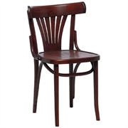 Fameg - CF143 - Bentwood Bistro Fan Back Sidechairs Walnut (Pack of 2)