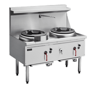 Cobra CW2H-CC - 1200mm Gas Waterless Wok with 2 Chimney burners. Weekly Rental $44.00