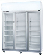 SKOPE TME1500SS 3 Door Stainless Steel Display Fridge. Weekly Rental $77.00