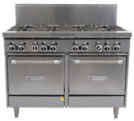 GARLAND GF48-8LL Restaurant Series Gas 8 Open Top Burners 2 Space Saver Ovens. Weekly Rental $120.00