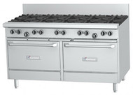 GARLAND GF60-6G24RR 6 Open Top Burners, 600mm Griddle, 2 Standard Ovens. Weekly Rental $132.00