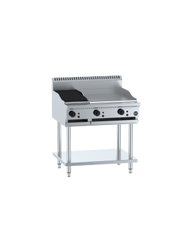 B+S - BT-GRP6-CBR3 -  Combination 600mm Grill Plate & 300mm Char Broiler. weekly rental $40.00