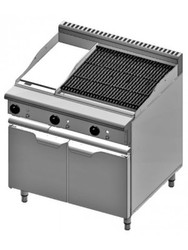 B & S Verro - VBT-GRP3-CBR6 - Combination 300mm Grill Plate  & 600mm Char Broiler. Weekly Rental $46.00