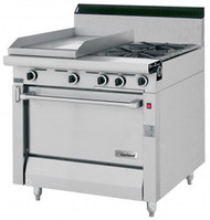 GARLAND MST42S Master Series Gas 2 Open Burners 1 Griddle Storage Base. Weekly Rental $103.00