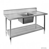 SSB-7-1500C - S/Steel Single Sink Bench. Weekly Rental $10.00