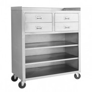 MS116 Mobile Cabinet With 4 Drawers and 3 Shelves. Weekly Rental $21.00