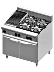 B & S Verro - VOV-SB4-CBR3 -  Gas Oven with 300mm Char Broiler & Four Open Burners. Weekly Rental $64.00