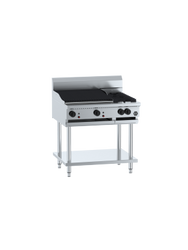 B & S - BT-SB2-CBR6 - Combination Two Open Burners & 600mm Char Broiler. Weekly Rental $42.00
