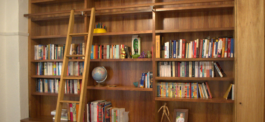Blackwood bookcases at Wilkins and Kent, Fitzroy