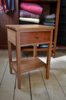 Ash bedside table with redgum drawer