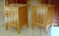 Crazy Ash Bedside table with cupboard