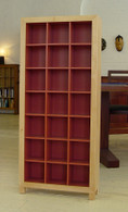 3x7 Cd cabinet, Rock Maple and Burnt Red, Barbi
